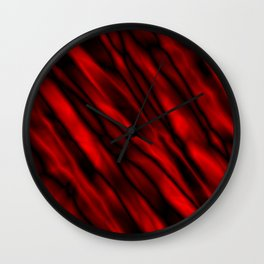 A bright cluster of red bodies on a dark background. Wall Clock