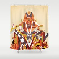desert Shower Curtains featuring Desert by Logan David