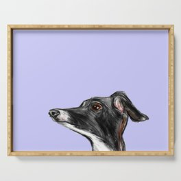 Italian Greyhound Illustration Serving Tray