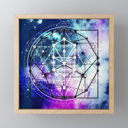 Sacred Geometry: Intertwined Framed Mini Art Print