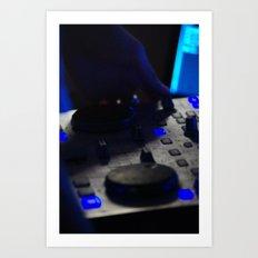 Lights of DJ Art Print