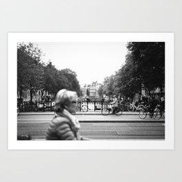 Cruising Through Amsterdam Art Print