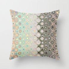 Pastel Pattern of Circular Shapes Throw Pillow