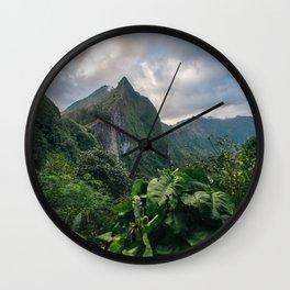 Old Pali Highway  Wall Clock