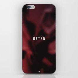 OFTEN iPhone Skin