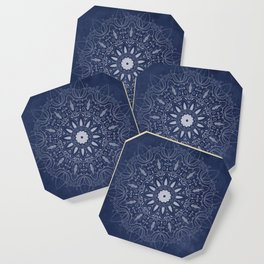 Indigo Mystique Mandala Coaster