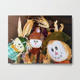 Scarecrow Selfie Metal Print