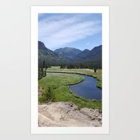 Summer in the Rockies- Meadow Views of the East Inlet Trail Part Three of Four Art Print