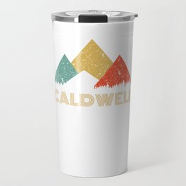 Retro City of Caldwell Mountain Shirt Travel Mug