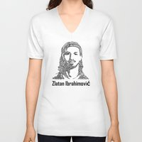 zlatan V-neck T-shirts featuring Zlatan  by christoph_loves_drawing