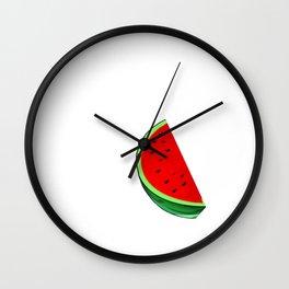 Vacay Mode Watermelon Tropical Summer Vibes Fruit Wall Clock