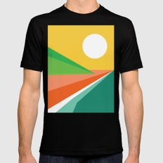 The beach Mens Fitted Tee Black LARGE