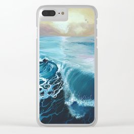The wave Clear iPhone Case