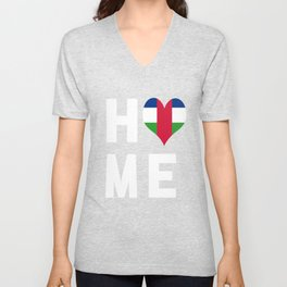 Central African Republic Is My Home Unisex V-Neck