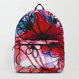 Bold Modern Flower Art - Wild Flowers 3 - Sharon Cummings Backpack