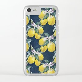 Lemons pattern Clear iPhone Case