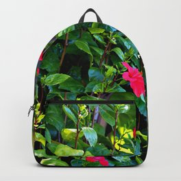Red and green power of nature Backpack