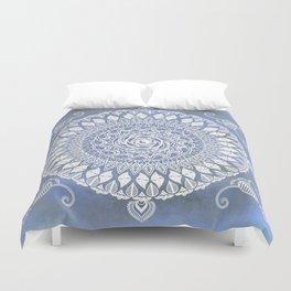 Paisley Moon Henna Mandala Duvet Cover