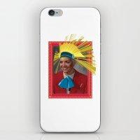 megan lara iPhone & iPod Skins featuring Lara by Robert Cooper