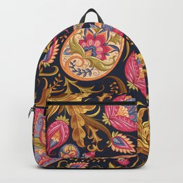 Golden Fertility Paisley Pattern Backpack