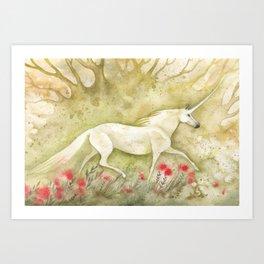 Licorne d'été Art Print