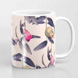 Pomegranate Vine in Blue Hue Coffee Mug