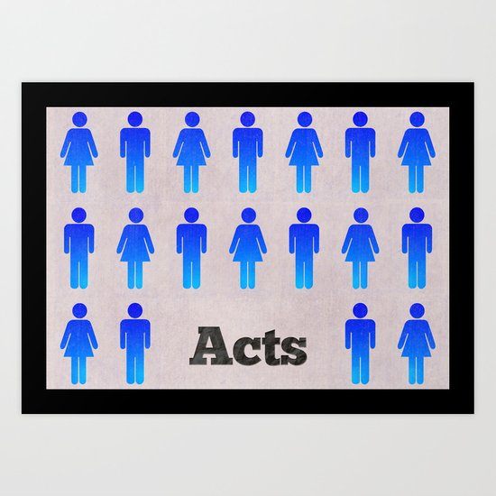 The Book of Acts (with Title) Art Print