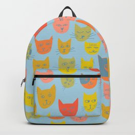 Meow! Colorful Cats Illustration Backpack