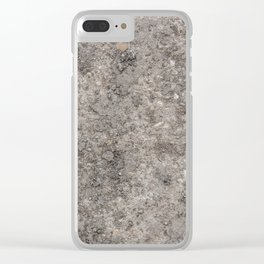 Stone Texture Photography Design Clear iPhone Case