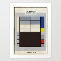 eames Art Prints featuring mondrian+eames by federico babina