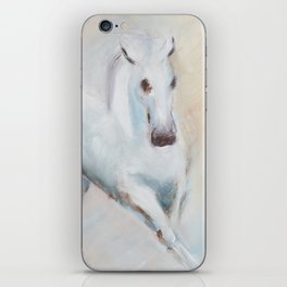 white horses iPhone Skin
