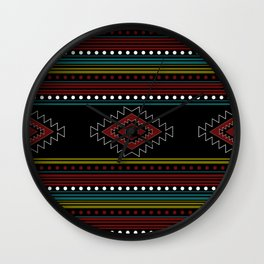native pattern Wall Clock