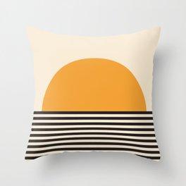 Horizon Lines Throw Pillow