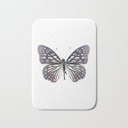 Black and White Butterfly Bath Mat