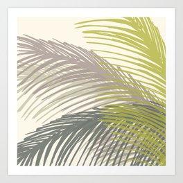 Palm Silhouette Series - Neutral Summer Palette Art Print