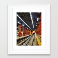 subway Framed Art Prints featuring Subway by Diana Cretu