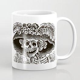 Calavera Catrina | Skeleton Woman | Black and White | Coffee Mug