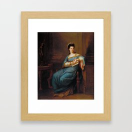 Angelica Kauffman,  Portrait of a Lady c.1775 Framed Art Print