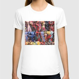 Colorful Scarves Pattern T-shirt