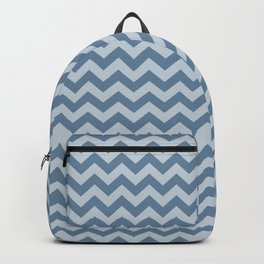 French Gray Morrocan Moods Chevrons Backpack