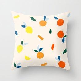 When Life Gives You Citrus Throw Pillow