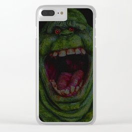 Slimer: Ghostbusters Screenplay Print Clear iPhone Case