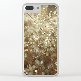 Autumn dew Clear iPhone Case