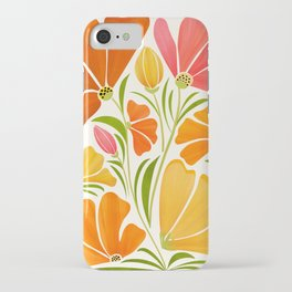 Spring Wildflowers / Floral Illustration iPhone Case