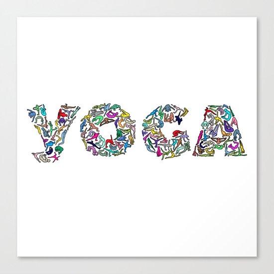 YOGA Figure Poses Canvas Print