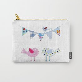 Birds with party flags Carry-All Pouch