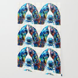 Colorful English Springer Spaniel Dog by Sharon Cummings Wallpaper