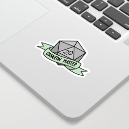 Dungeon Master D20 Sticker