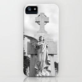 Angel Statue Cemetery Graveyard Tomb Gothic Catholic Cuba Spain Havana Broken Wing Cross iPhone Case