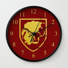 Pendragon crest - Merlin BBC Wall Clock